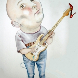 Caricature of Chaz Stewart: Humour