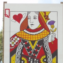 Queen of Hearts Belladrum Side Stage banner