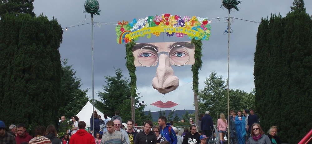 """Imagine....You are Here"" The meeting point at Belladrum Music Festival"